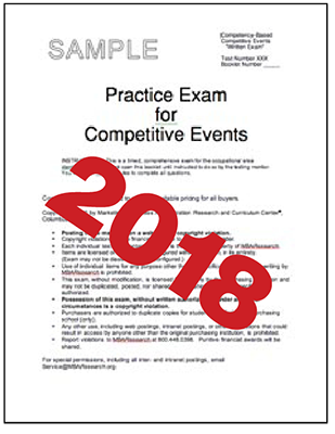 MBA Research - 2018 Exams for DECA: Math and Econ only #