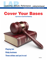 LAP-BL-058, Cover Your Bases (Legal Issues in Sport/Event Marketing) (Download) BL:058, Sports Marketing, Business Law, Business Administration, LAP-BL-003
