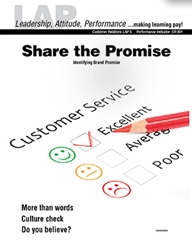 LAP-CR-006, Share the Promise (Identifying Brand Promise) (Download) CR:001, Product Management, Product Planning, Branding, Customer Relations