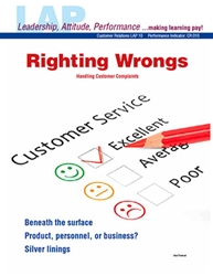 LAP-CR-010, Righting Wrongs (Handling Customer Complaints) (Download) CR:010, Customer Service