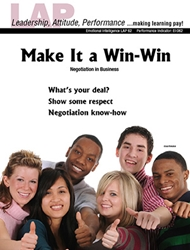LAP-EI-062, Make It a Win-Win (Negotiation in Business) (Download) Emotional Intelligence, Leadership, Communications, LAP-EI-008