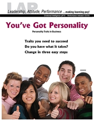 LAP-EI-009, Youve Got Personality (Personality Traits in Business) (Download) EI:018, Emotional Intelligence, Business Behavior, Work-based Learning, Co-op Work Experience, Community-based Learning