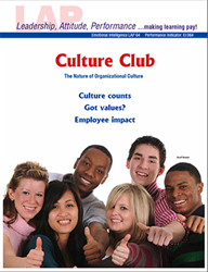 LAP-EI-064, Culture Club (The Nature of Organizational Culture) (Download) EI:064, Emotional Intelligence, Ethics