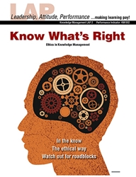 LAP-KM-002, Know What's Right (Ethics in Knowledge Management) (Download) KM:002