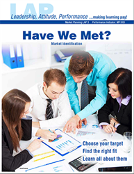 LAP-MP-003, Have We Met? (Market Identification) (Download) MP:003, Market Planning, Marketing