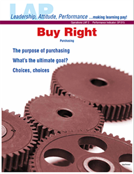 LAP-OP-002, Buy Right (Purchasing) (Download) Operations, Buying