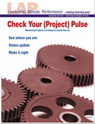 LAP-OP-520, Check Your (Project) Pulse (Monitoring Projects and Taking Corrective Actions) (Download) OP:520, Operations, LAP-QS-019
