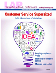 LAP-PM-001, Customer Service Supersized (The Role of Customer Service in Positioning/Image) (Download) PM:013, Product Management, Product Planning, Branding