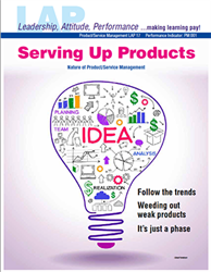 LAP-PM-017, Serving Up Products (Nature of Product/Service Management) (Download) PM:001, Product Management, Product Planning, Branding, Marketing