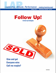 LAP-SE-057, Follow Up! (Follow-Up Strategies) (Download) SE:057, LAP-SE-119, Selling