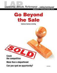 LAP-SE-076, Go Beyond the Sale (Customer Service in Selling) (Download) SE:076, LAP-SE-130
