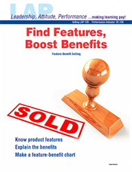 LAP-SE-109, Find Features, Boost Benefits (Feature-Benefit Selling) (Download) SE:109, LAP-SE-113