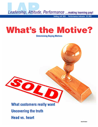 LAP-SE-883, Whats the Motive? (Determining Buying Motives) (Download) SE:883, Selling, LAP-SE-109