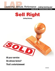 LAP-SE-932, Sell Right (Selling Policies) (Download) SE:932, LAP-SE-121