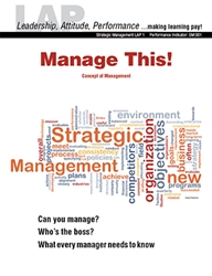 LAP-SM-001, Manage This! (Concept of Management) (Download) SM:001, LAP-SM-003, Strategic Management, Planning