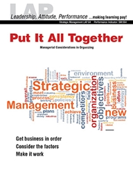 LAP-SM-064, Put It All Together (Managerial Considerations in Organizing) Strategic Management