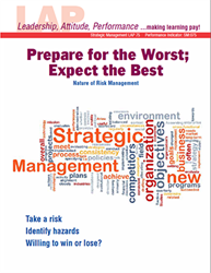 LAP-SM-075, Prepare for the Worst; Expect the Best (Nature of Risk Management) (Download) LAP-FI-008