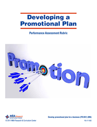 Rubric: Developing a Promotional Plan (Download)