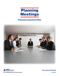 Rubric: Planning Meetings